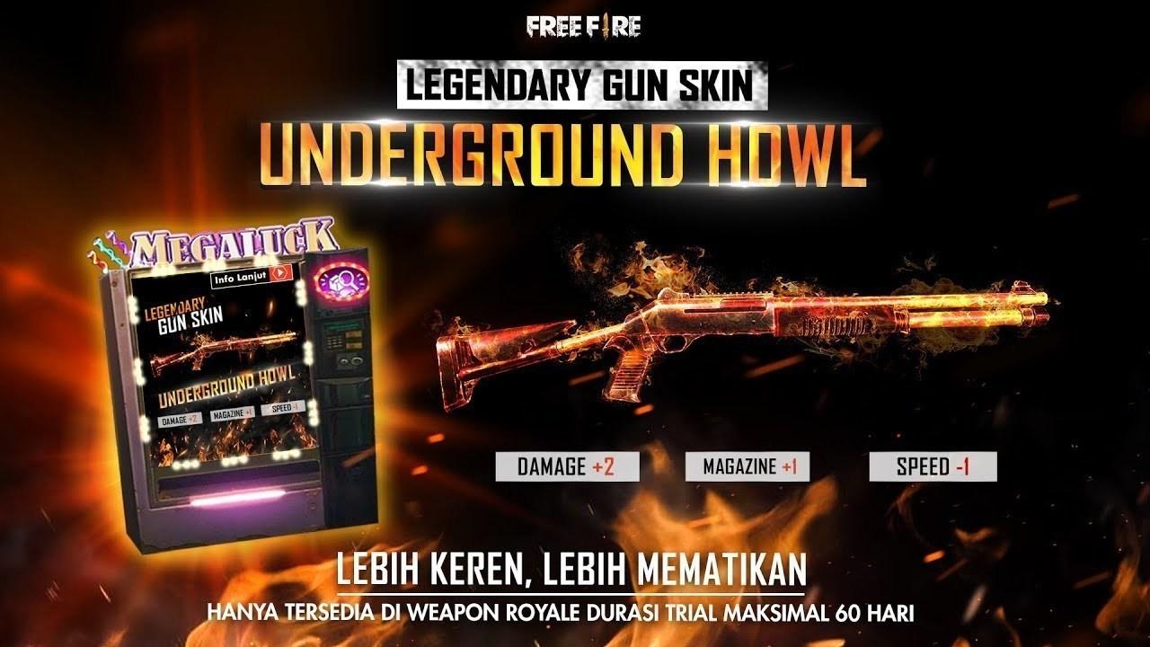 Underground Howl Shotgun Skin - Garena Free Fire