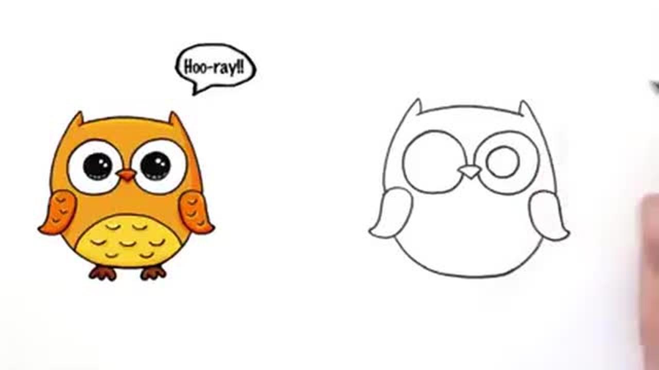 Streaming Cara Mudah Menggambar Karakter Burung Hantu Imut Lucu Owl Step By Step Vidio Com