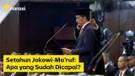 Setahun Jokowi-Ma'ruf- Apa yang Sudah Dicapai