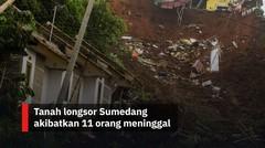 Tanah longsor Sumedang akibatkan 11 orang meninggal