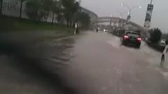 Banjir Di Stadion Wibawa Mukti Jababeka Cikarang