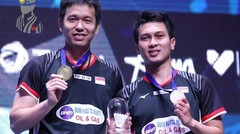 Highlight Moh Ahsan Hendra Setiawan vs Hiroyuki Endo Yuta Watanabe - New Zealand Open 2019