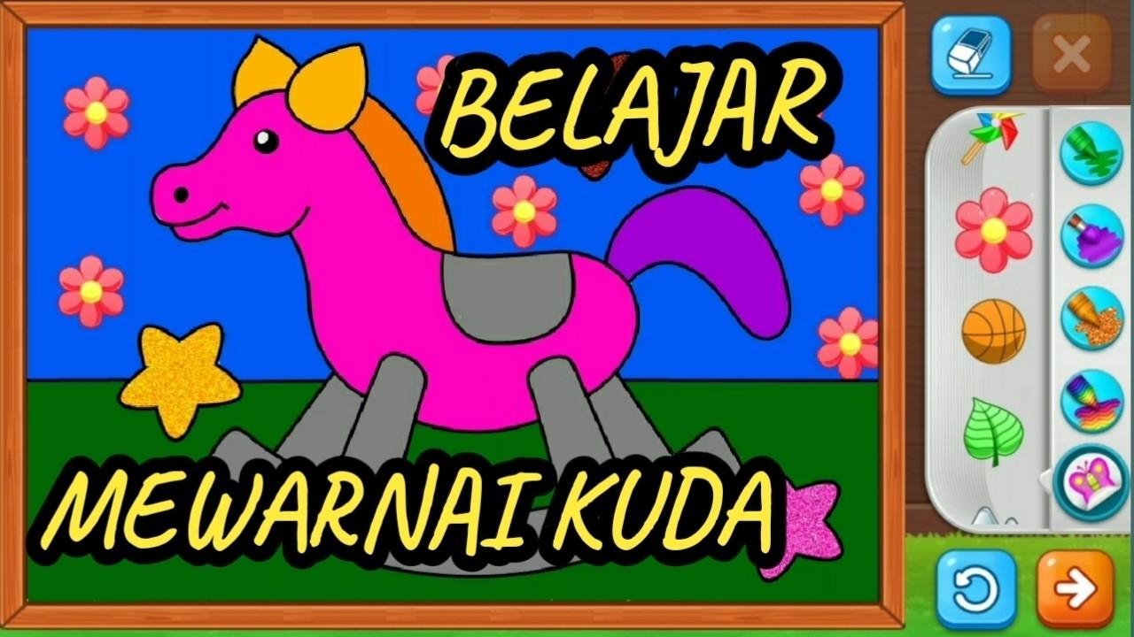 Belajar Menggambar Dan Mewarnai Kuda Lucu Untuk Anak TK Dan PAUD 6