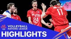 Match Highlight | VNL MEN'S - Brazil 0 vs 3 Russia | Volleyball Nations League 2021