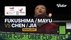 Highlight Match 2   Jepang vs China   Yuki Fukushima/Mayu Matsumoto vs Chen Qing Chen/Jia Yi Fan   Thomas & Uber Cup 2020