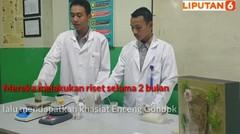 Pelajar SMAN Sumsel Ciptakan Alas Kaki dari Enceng Gondok Ramah Lingkungan