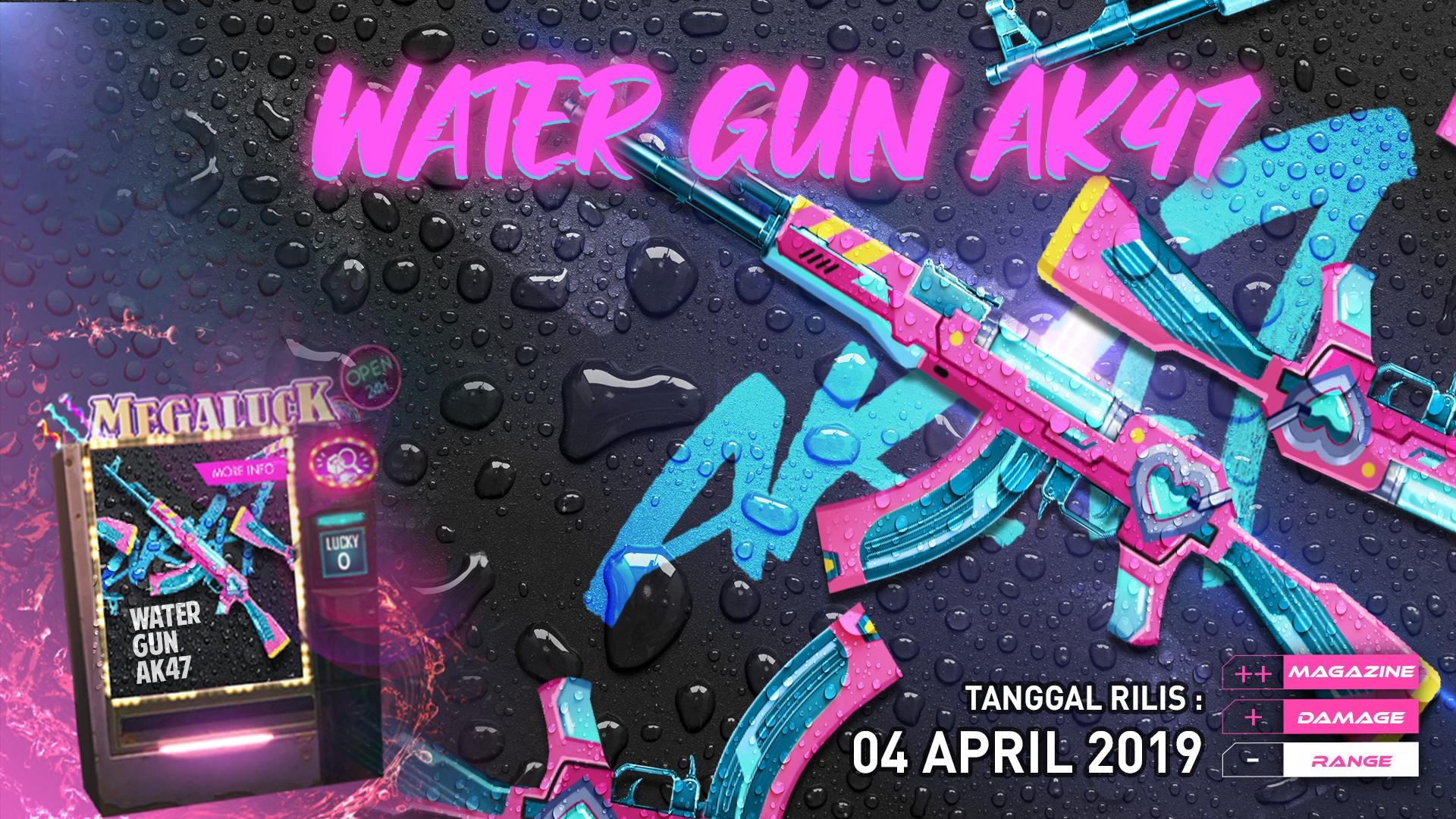 Terbaru, Hadir Skin Water Gun AK47 - Garena Free Fire