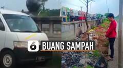 Viral Penumpang Mobil Buang Sampah di Kali, Pelaku Diamankan Polisi