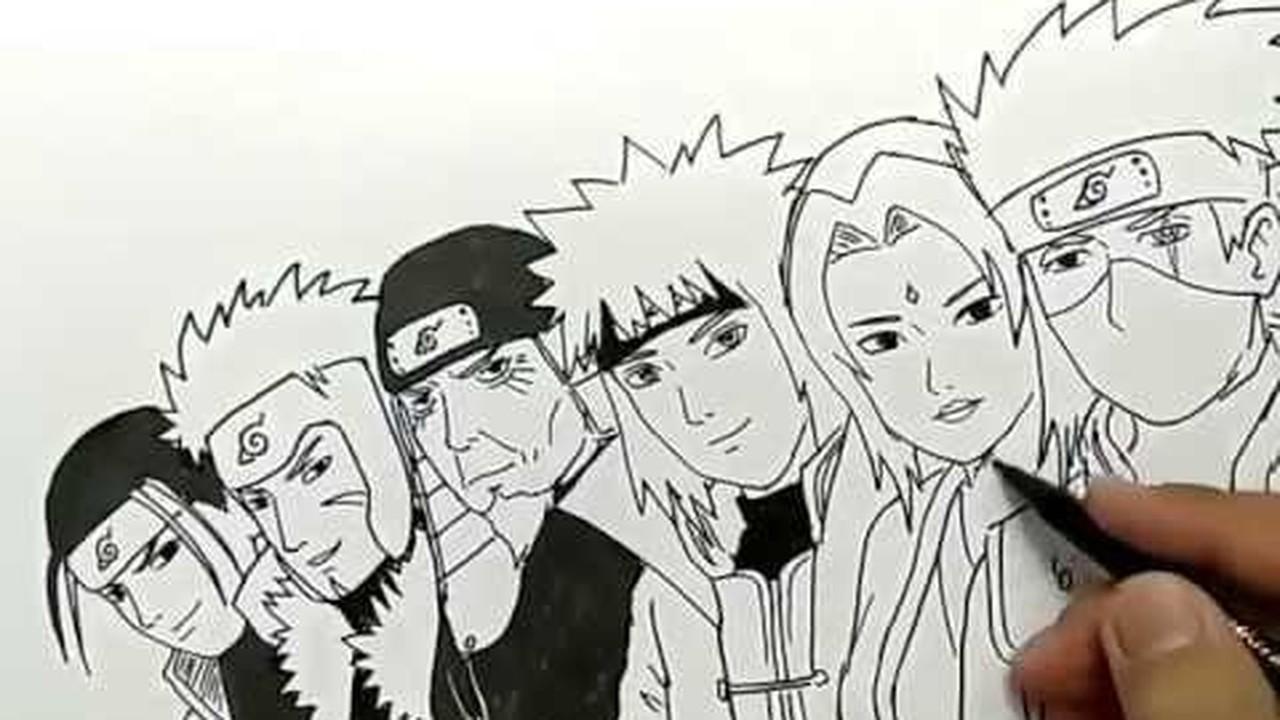 Streaming Cara Menggambar 6 Hokage Komik Naruto Vidio