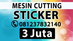 SUPPLIER ALAT KATING STIKER MURAH SOLO Mesin Printer Cutting Sticker Pemotong Polyflex Cetak Vinyl