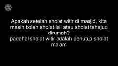 Tausiyah Subuh dan Tanya Jawab Soal Agama Mesjid Pusdai 2 Ramadhan 1438 H