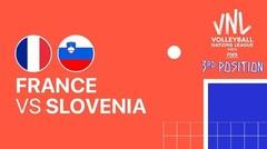 Full Match   3rd Position   VNL MEN'S - France vs Slovenia   Volleyball Nations League 2021