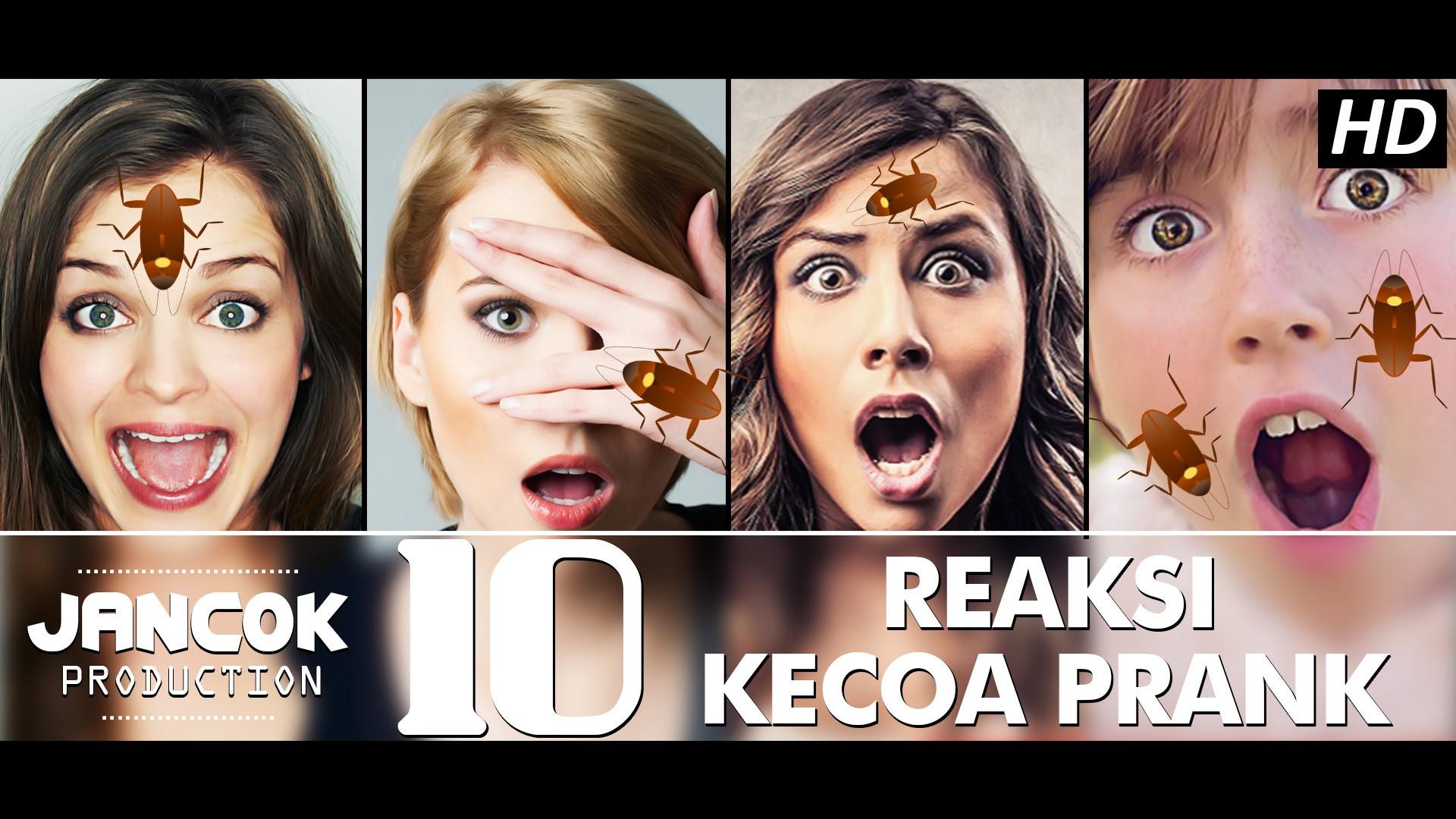 10 Expresi Lucu Kocak & Konyol Cewek Cewek Kalau Di Prank Kecoak