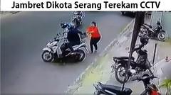 Seorang Wanita Dijambret Dikota Serang Terekam CCTV