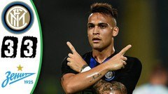 Hasil Pertandingan INTER MILAN vs ZENIT 3-3 Laga Persahabatan Tadi Malam 22 Juli 2018