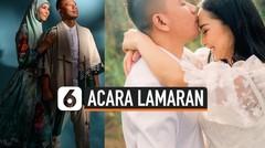 Momen Bahagia Lamaran Kalina Ocktaranny dan Vicky Prasetyo