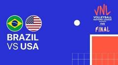 Full Match   Final   VNL WOMEN'S - Brazil vs USA   Volleyball Nations League 2021