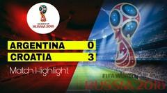 ARGENTINA Vs CROATIA (0-3) Highlight