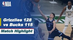 Match Highlight | Memphis Grizzlies 128 vs 115 Milwaukee Bucks | NBA Regular Season 2020/21