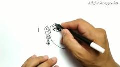 CANTIKNYA, cara menggambar kata ISTRI jadi WANITA CANTIK