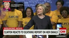 Hillary Clinton reacts to email report