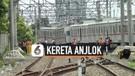 Krl Bekasi Anjlok di Stasiun Kampung Bandan