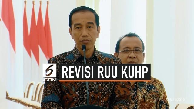 Jokowi Perintahkan Tunda Pengesahan Revisi KUHP