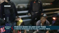 Tim Rajawali Tangkap 4 Pemuda Kedapatan bawa Sajam saat PSBB