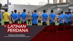 Timnas Indonesia Gelar Latihan Perdana Dengan Protokol Kesehatan yang Ketat