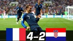 Hasil Pertandingan PERANCIS vs KROASIA 4-2 Final Piala Dunia 2018 Tadi Malam 15 Juli 2018