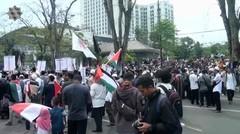 Aksi Long march untuk bela Mesjid Al-Aqsha