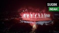 Gemerlap Indahnya SUGBK saat Pembukaan Asian Games 2018