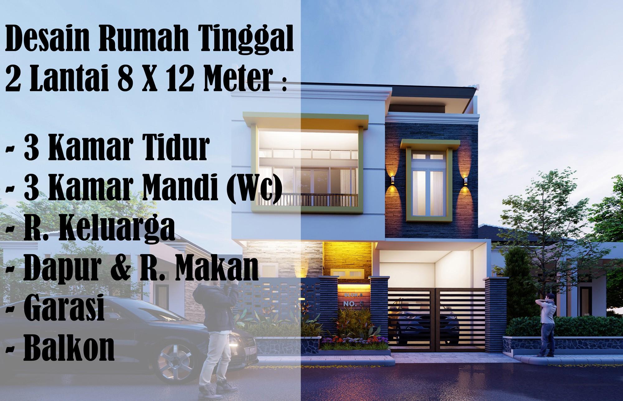 Koleksi Denah Rumah Minimalis Ukuran Tanah 4x8 Desain Rumah