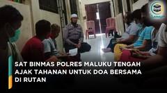 Binmas Polres Maluku Tengah Ajak Tahanan untuk Doa Bersama di Rutan
