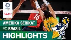 Highlights | Bola Voli Putri | Perebutan Medali Emas - Brasil 0 vs 3 Amerika Serikat | Olimpiade Tokyo 2020