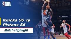 Match Highlight   New York Knicks 96 vs 84 Detroit Pistons   NBA Regular Season 2019/20