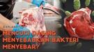 Benarkan mencuci daging bisa menyebabkan bakteri menyebar