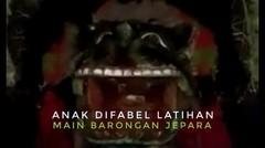 Anak Penyandang Disabilitas Latihan Barongan Jepara