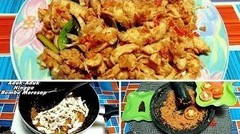 Resep & Cara Memasak Ayam Suwir Pedas Bumbu Rujak