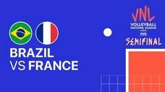 Full Match | Semi Final | VNL MEN'S - Brazil vs France | Volleyball Nations League 2021