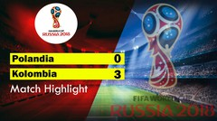 polandia Vs Kolombia ( 0-3 ) Highlight & Goal