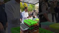 Presiden Jokowi Berikan Bantuan kepada Pedagang Kaki Lima, Tarakan, 19 Oktober 2021