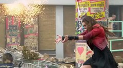 """Marvel's Avengers: Age of Ultron: Elizabeth Olsen """"Scarlet Witch"""" Behind the Scenes Movie Broll"""