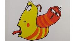 belajar menggambar larva