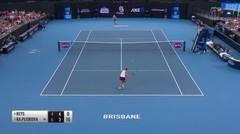 Match Highlight | Madison Keys 1 vs 2 Karolina Pliskova | WTA Brisbane International 2020