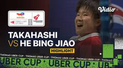 Highlight Match 3   Jepang vs China   Sayaka Takahashi vs He Bing Jiao   Thomas & Uber Cup 2020