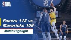 Match Highlight | Indiana Pacers 112 vs 109 Dallas Mavericks | NBA Regular Season 2019/20