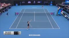Match Highlight | KA. Pliskova 2 vs 1 Tomljanovic | WTA Brisbane International 2020