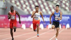Lalu Muhammad Zohri Menang Medali Perak Asian Athletics Championship 2019