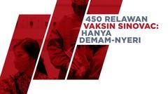 Kondisi 450 Relawan Vaksin Sinovac di Bandung: Hanya Demam-Nyeri